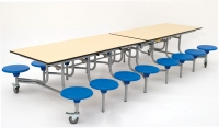 Round Folding Table picture on Rectangular Mobile Folding Table Dining Canteen Unit 16 Seat 3280x650x1500 Grey Top details with Round Folding Table, Folding Table 6cffca412f787e9655972f7681dbb77d