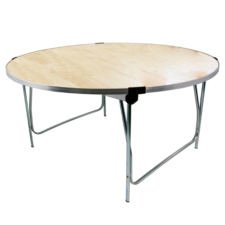 Gopak Circular Round Folding Table 1220x584mm (DxH) Maple Size 3 Infant