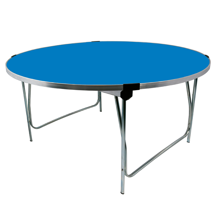 Gopak Circular Round Folding Table 1220x635mm (DxH) Azure Size 4 Junior