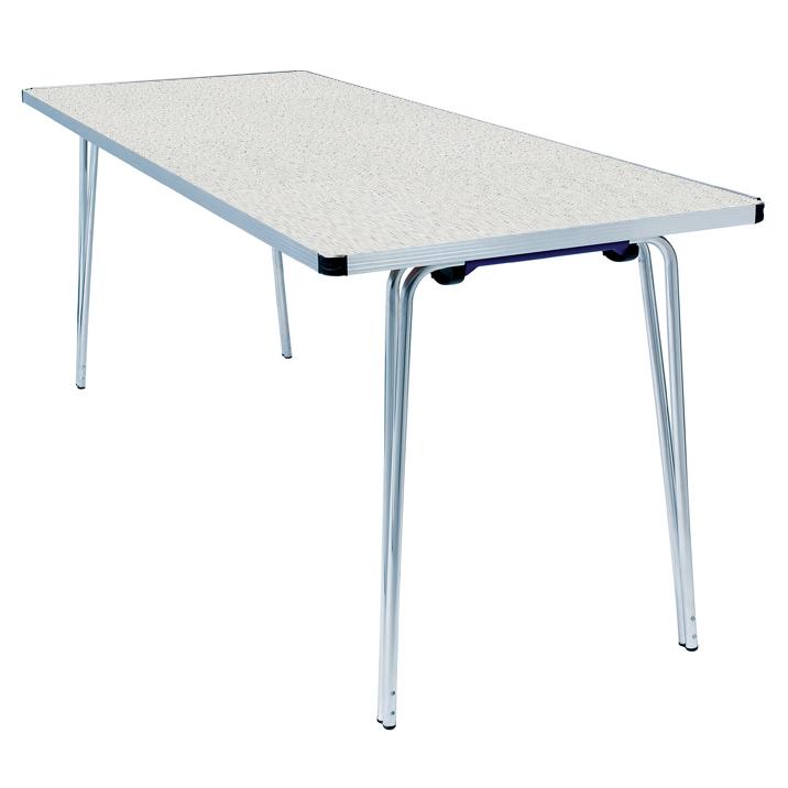 Brilliant Gopak Contour Rectangular Folding Table Snow Grit 1830X610X584Mm Lxwxh Size 3 Infant Download Free Architecture Designs Osuribritishbridgeorg