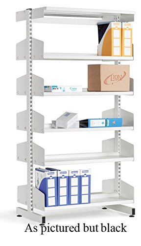 LibraryShelvingDoubleSided10ShelfBlack