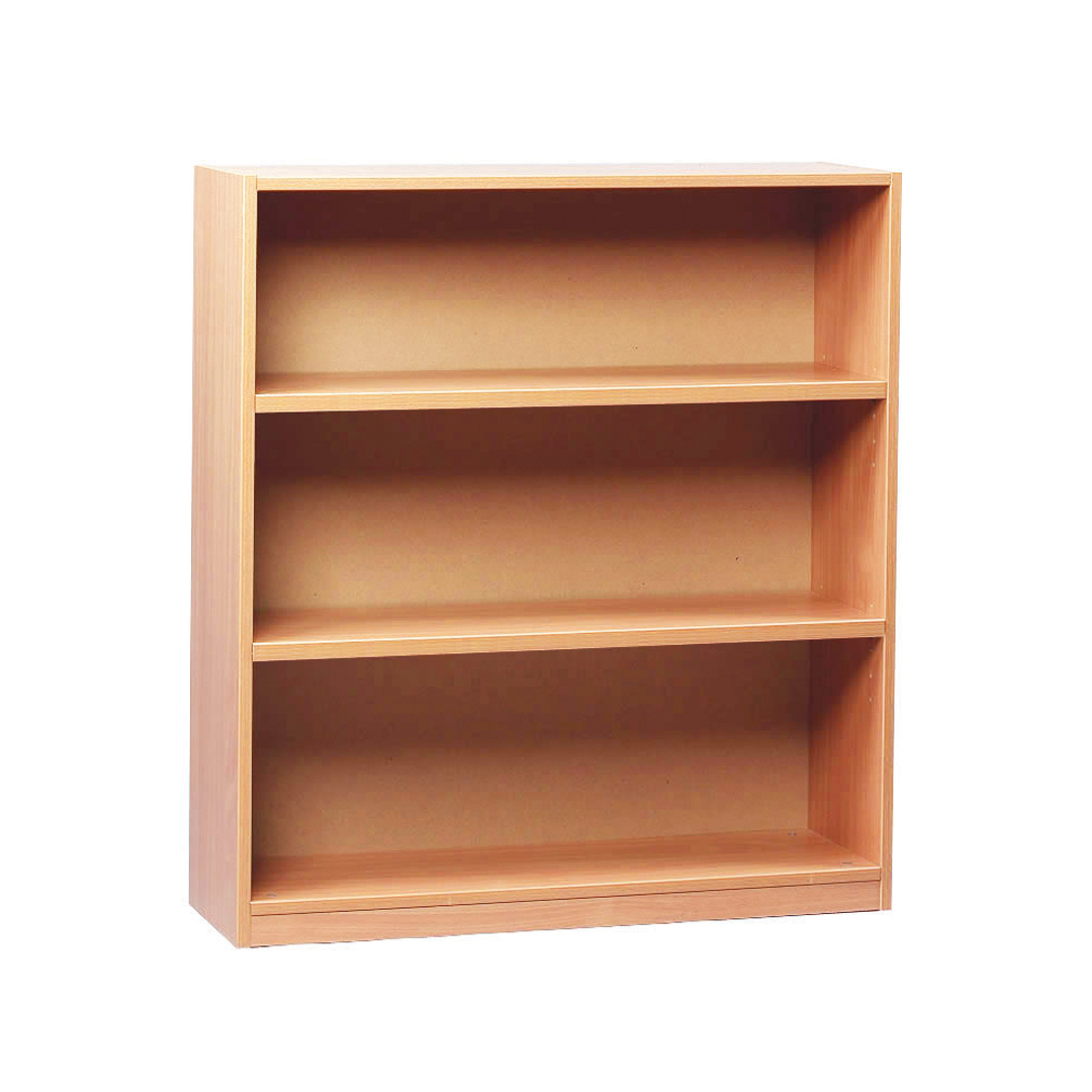 Terrific Monarch School 1000Mm Open Bookcase 2 Shelves Beech Meq1000Bc Home Interior And Landscaping Elinuenasavecom