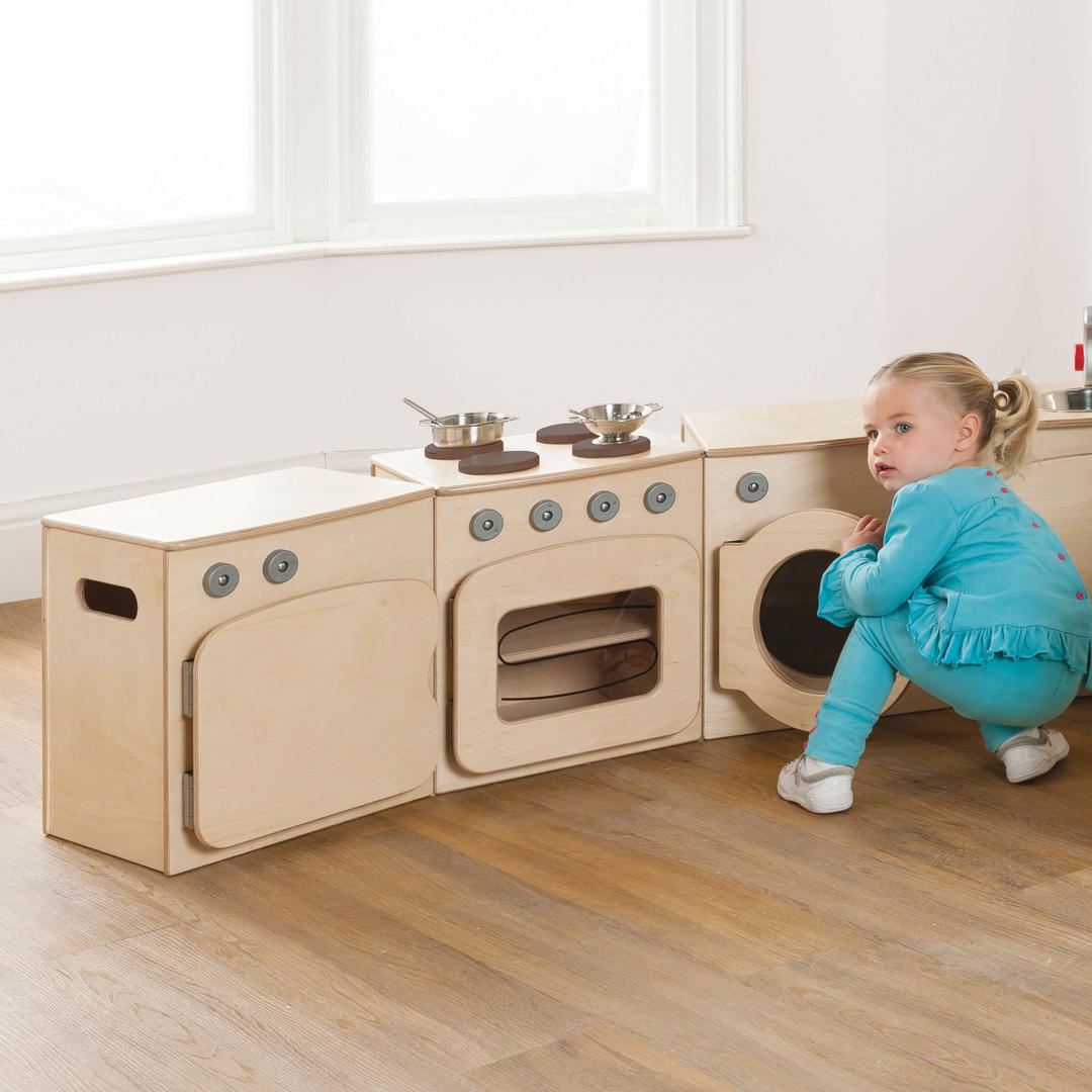 eyfs first toddler kitchen furniture discount bundle 4 units pt388 - Toddler Kitchen