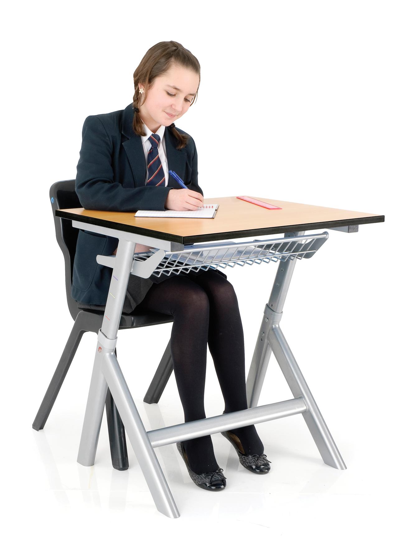 Titan School Classroom Height Adjustable Table Desk Single